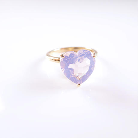 Candy Heart Ring  (ミルキーアメジスト)