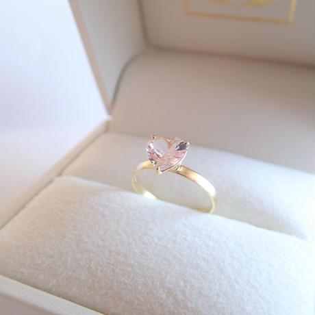 amulet ring(ハート/モルガナイト)