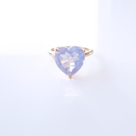 Candy Heart Ring  (ミルキーアメジスト)