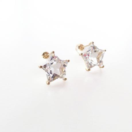 Etoile Earrings M (クリアクォーツ)