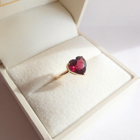 Candy Heart Ring  (ガーネット)