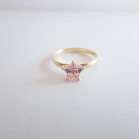 amulet ring(星/ピンクトルマリン)