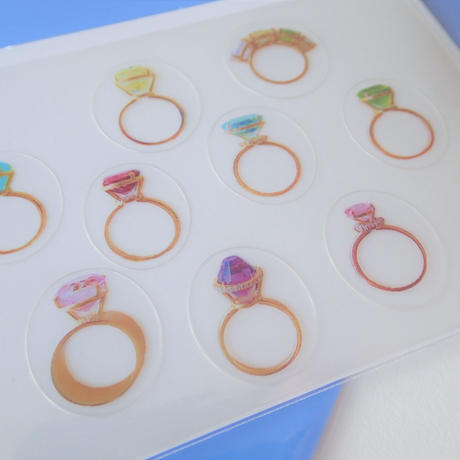 Jewelry Sticker /ジュエリーステッカー(2種)+(限定オリジナルクリアファイル付)