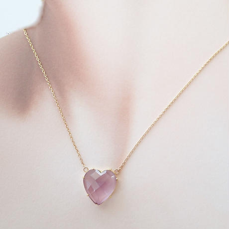 Heart Pendant(ローズアメジスト)