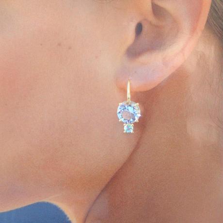 Dew earrings(クリアクォーツ/グリーンベリル)