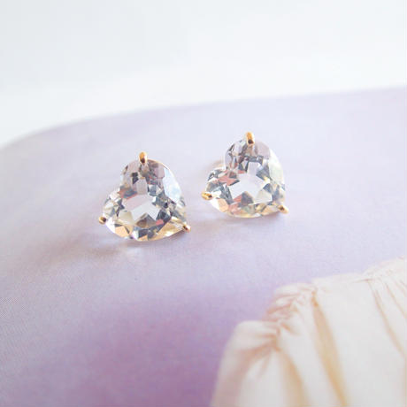 Heart Studs (クリアクォーツ)