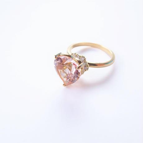 Grace Heart  Ring (モルガナイト)
