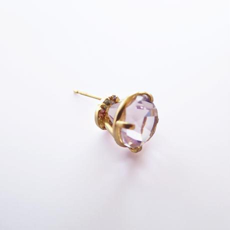 Jewel earrings(ピンクアメジスト)