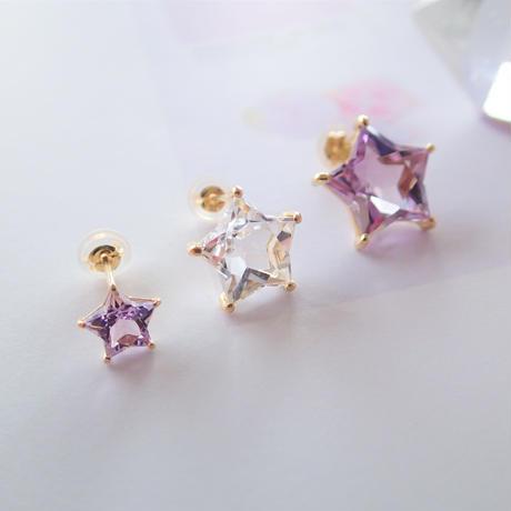 Etoile Earrings L (ローズアメジスト)