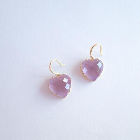 Heart Earrings(ローズアメジスト)