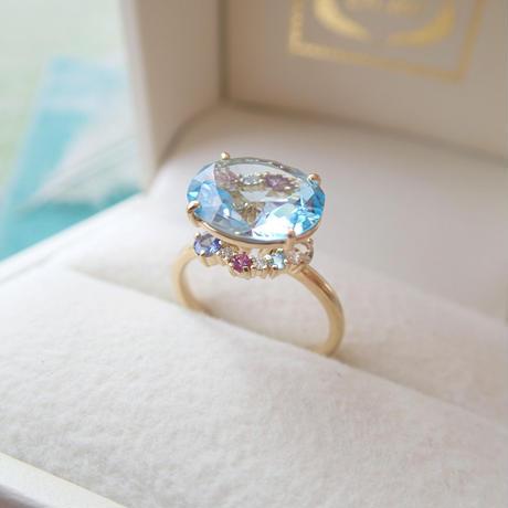 Nature Ring (スカイブルートパーズ)