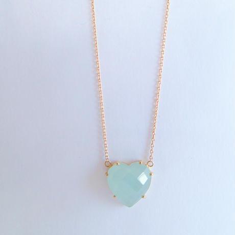 Heart Pendant(ミルキーアクアマリン)