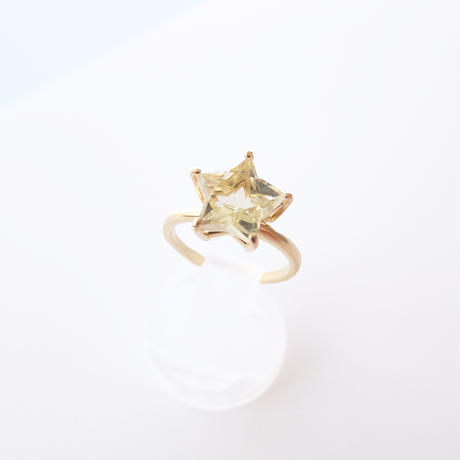 Etoile Ring M(クリアクォーツ/レモンクォーツ)