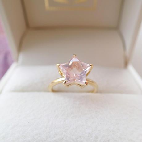 Etoile Ring M(ローズクォーツ)