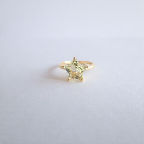 Etoile Ring M(レモンクォーツ/クリアクォーツ)