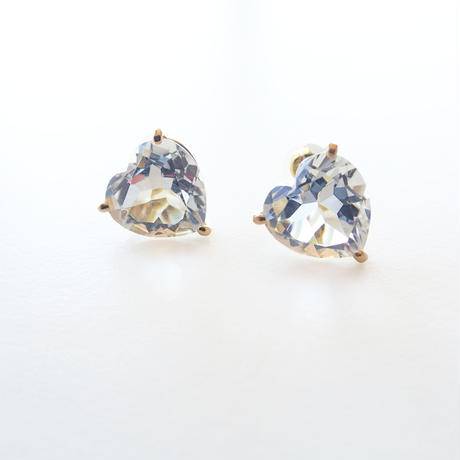 Candy Heart Studs (クリアクォーツ)