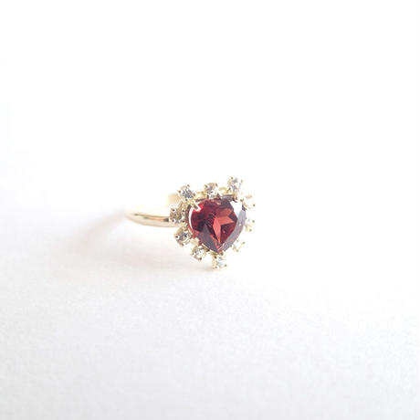 Sparkle Heart ring(ガーネット)