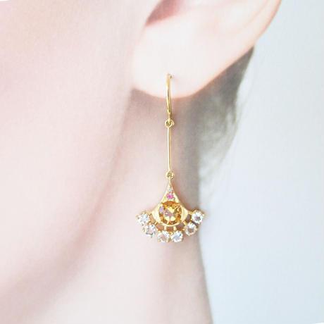 Peacock earrings(シトリン)