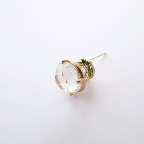 Jewel earrings(ルチルクォーツ)
