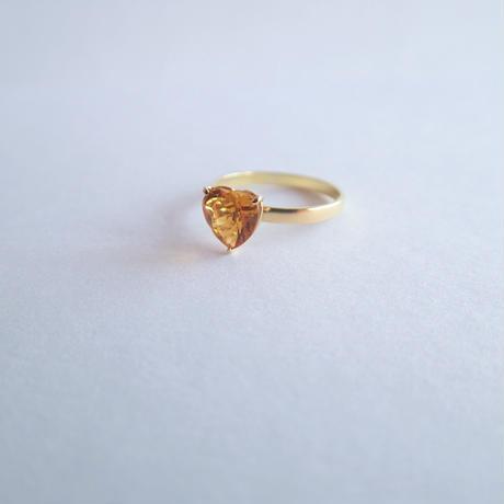 amulet ring(ハート/シトリン)