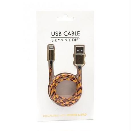 skinnydip スキニーディップ USB 充電ケーブル ORANGE ROPE IPHONE CABLE Lightningケーブル USBケーブル 短め 短い 海外 ブランド