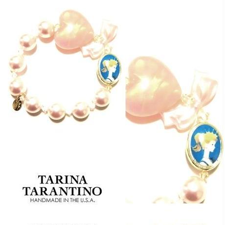 TARINA TARANTINO タリナタランティーノ プリンセス バービー ブレスレット BARBIE PEARL AND CRYSTAL STRETCH パール ハート ストレッチ 海外 ブランド