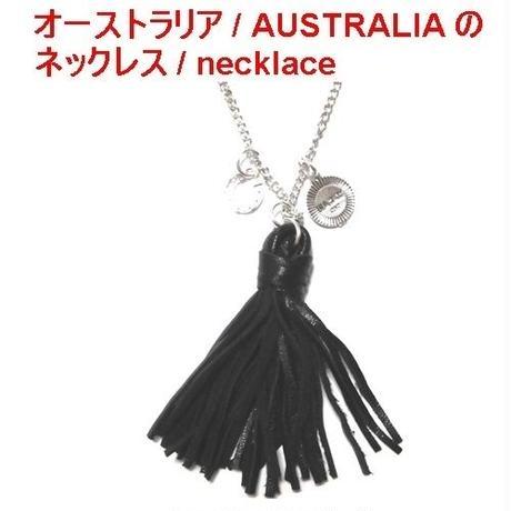 CAT HAMMILL キャットハミル オーストラリア の レザー タッセル ネックレス Leather special necklace black おしゃれ ペンダント ポーチ セット 海外