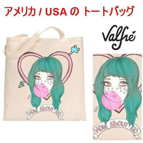 Valfre ヴァルフェー アメリカ の かわいい トートバッグ HOW ABOUT NO TOTE BAG トートバック エコバッグ たためる 折り畳み ecobag 海外 ブランド