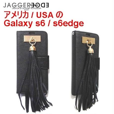 JAGGER EDGE 革製のおしゃれなGALAXYS6edgeケース手帳型 galaxys6 対応 ギャラクシーs6エッヂケース スマホケース