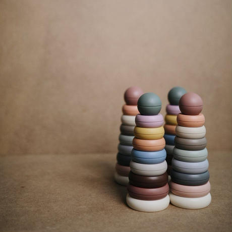 Mushie Stacking Rings Toy   Made in Denmark (Rustic)