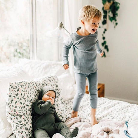 Lovely Littles The Ribbed Leggings Slate