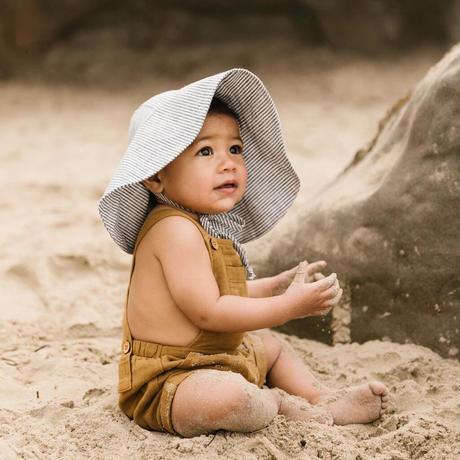 Briar Baby  ISLAND STRIPE SUNBONNET