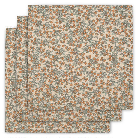 Konges Sløjd  3pack Muslin Cloth ORANGERY BEIGE
