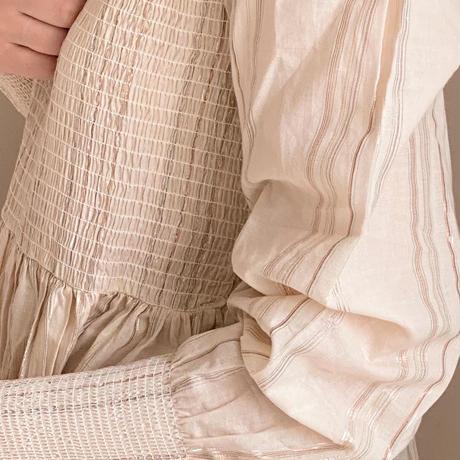 Konges Sloejd FIJI MOMMY SMOCK DRESS-CHAMPAGNE/MULTI LUREX