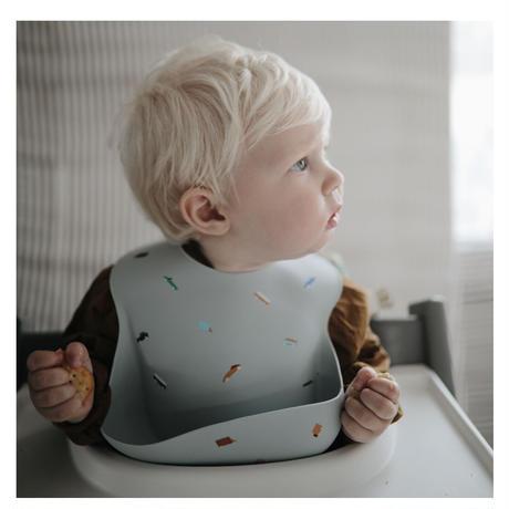 Mushie Silicone Baby Bib (Vanilla Confetti)