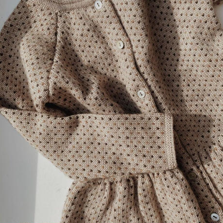 Konges Sløjd MEO FRILL CARDIGAN - PALOMA BROWN/ HONEY COMB