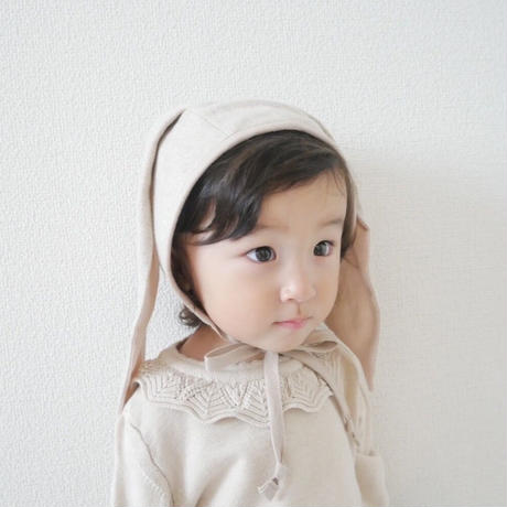Briar Baby  OATMEAL BUNNY BONNET COTTON-LINED