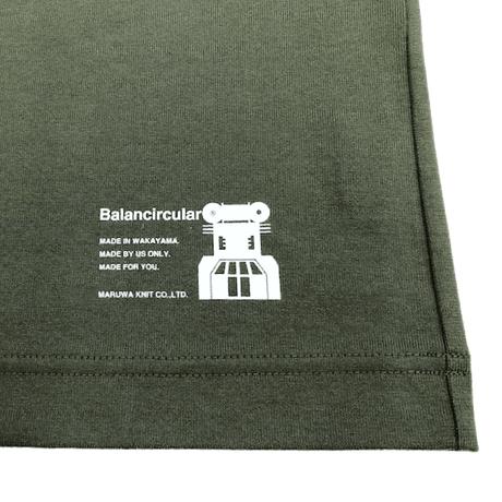 スーピマコットンドルマンTシャツ-KHAKI-Balancircular