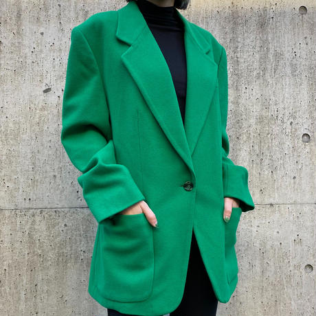 【Used】Green tailored jacket / 緑テラードジャケット