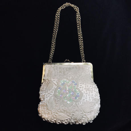 【Used】Flower motif  beads hand bag / フラワーモチーフハンドバッグ