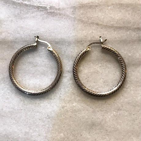 【Selected item】silver 925 pierce/ループピアス