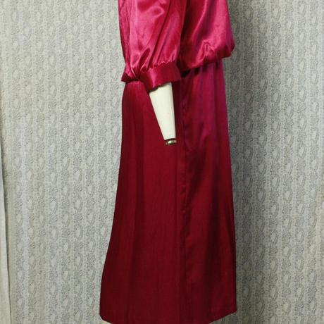 1960's Vintage【WINDSOR SOIREE】Pink Satin Onepiece