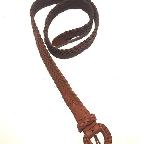 【Used】Leather  mesh belt / 皮編み込みベルト