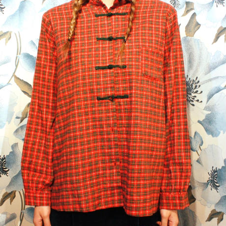 【Used】China button shirt / チャイナボタンシャツ