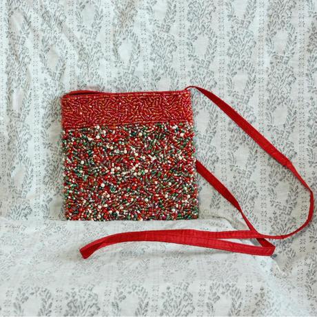 Vintage Beads Square Bag