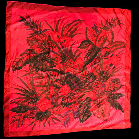 【Used】Elegant flower pattern scarf / エレガント花柄スカーフ