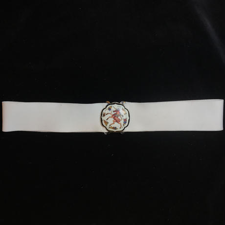 【Vintage】 white unicorn design belt / ユニコーンデザイン白ゴムベルト