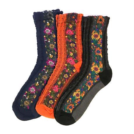 【Selected Item】Flower line socks / フラワーラインソックス