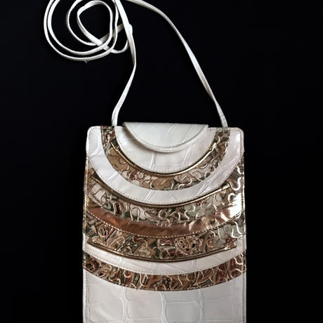 【Vintage】1980's leather shoulder bag / 型押しレザーショルダーバッグ