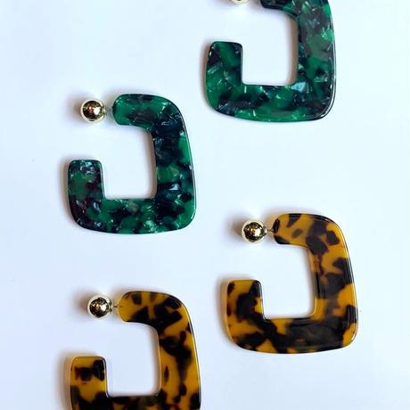 【Selected item】Tortoiseshell pierce / べっ甲ピアス